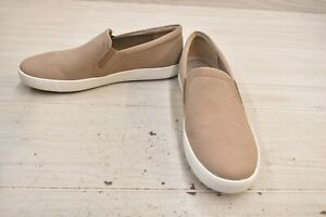 Naturalizer Marianne Leather Slip On Sneakers, Women's Size 12W, Oatmeal NEW