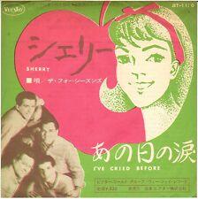 "THE FOUR SEASONS ""SHERRY"" DOO WOP ROCK 60'S SP VEE JAY 1170 JAPON !"