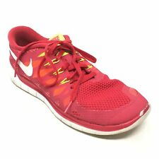 Women's Nike Free 5.0 Running Shoes Sneakers Size 10M Red White Athletic X12