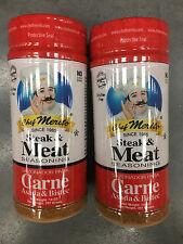 Lot of 2 Chef Merito Carne Asada Meat Steak Seasoning, 14 Oz Each