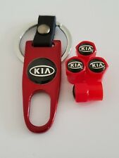 KIA Plastic Valve DUST CAPS Keyring Keychain Spanner all Models Red Picanto Soul