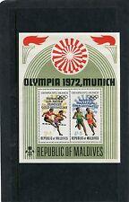 Maldive Islands 1973 Gold-medal Winners, Munich Olympic Games. SG MS437