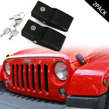 Metal Locking Hood Lock Catch Latches For Jeep Wrangler JK Accessories 2007-2017