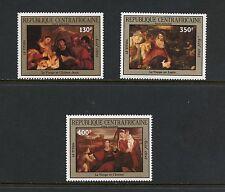 Central Africa 1985  #C308-10  art paintings    3v.  MNH  I207