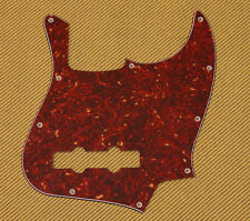 PG-0755-044 Vintage Style Red Tortoise 3-Ply Pickguard For Fender Jazz Bass