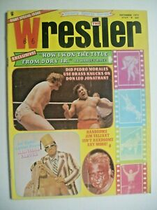 THE WRESTLER 9/73 EXCLUSIVE PHOTOS FROM RACE NWA WIN OVER DORY JR! NOBLEvLAVERNE
