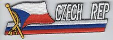 Czech Republic Flag Patch Embroidered Iron On Applique