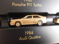 Herpa 1984 AUDI QUATTRO in oro metallizzato 1:87  NUOVO  FONDO DI MAGAZZINO