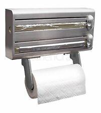 Master Class Stainless Steel Cling Film, Foil & Kitchen Roll Holder Dispenser