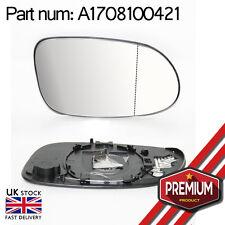 Riscaldata Specchio Vetro Lato Destro Grandangolo per MERCEDES A CLASS W168 98-04