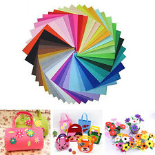 40PCS Rainbow Colorful Felt Sheets DIY Craft Polyester Fabric Hard 15x15cm
