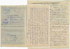 CEYLON WW2 AIRLETTER RAF PERSONAL + DESCRIPTION of HINDU FESTIVAL 1945