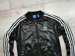 ADIDAS Originals___ SUPERGIRL Wet Look Track Jacket Womens___ Size US S / UK 10