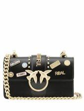 PINKO MINI LOVE PINS BAG Black Authentic 4c855994682