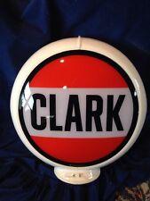 Vintage CLARK Gas Pump Globe Original GLASS Advertising Oil Sign on Capco Remake