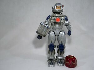 Hasbro C-031A Action Man Robot To Batteries 13 3/8in