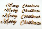 Merry Christmas word Cutout pack of 4!! MDF Laser Cut Wooden Craft Blank xmas
