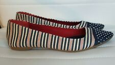 Style & Co Women's Shoes Size 9 Ballet Flats Red White & Blue Patriotic