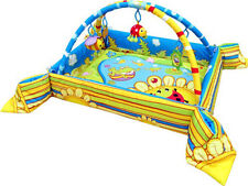 Frog WIldlife Garden Pond Insect Play Gym Mat with Safety Sides and Dangle Toys