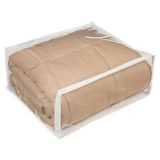 "12 Clear Plastic Vinyl Storage Bags Zippered 22"" x 18"" x 7.5"" New"