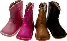 """Adorable Pink """"Squeaker ' Cowgirl  Boots Toddler Sz 3"""