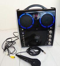 The Singing Machine SML-383 Black Portable Cd Karaoke Machine