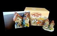 "DAVID WINTER HAMPSHIRE HUTCHES JOHN HINE DECORATED 2 5/8"" COTTAGE ORIG BOX 1993"