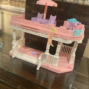 Playskool Victorian Dollhouse Front Porch & Sun Deck Large Pink White++++