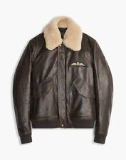 Belstaff Arne RAF Aviator Leather Jacket Brown Size 54