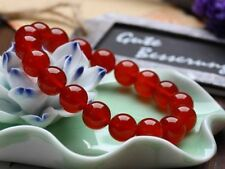 Charming!10mm Red Ruby Round Beads Gemstones Bracelet