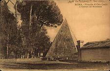 Roma Rom Italia Italia AK 1914 CESTIUS piramide piramide di Caio Cestio monumento funerario