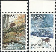 Georgia 1999 Europa/National Parks/Bear/Deer/Trees/Animals/Nature 2v set  b3031a