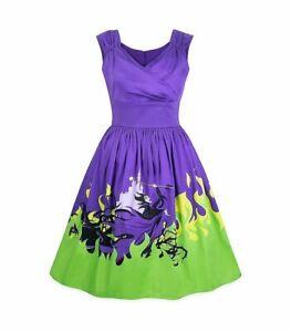 New Disney Parks Dress Shop Villains Maleficent Dragon Flames Women's Dress S-XL