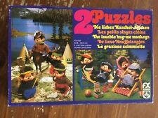 2puzzles, monchhichi - vintage - 2x48 pieces - schmid west germany