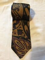 Polo Ralph Lauren Brown Floral Tie 100% Silk (C9)