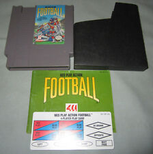 NES Play Action Football - Nintendo Video Game w/Manual & 1 Player Card - WORKS!