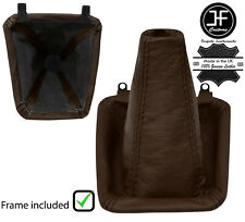 BROWN LEATHER MANUAL GEAR GAITER+PLASTIC FRAME FOR TOYOTA SUPRA MK3 86-93