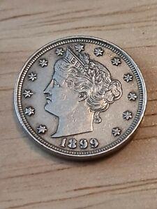 1899 V Nickel Five Cent 5C Coin Nice Grade AMERICA US