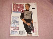 KNITTING MACHINE MAGAZINE MACHINE KNITTING NEWS FEBRUARY 1990