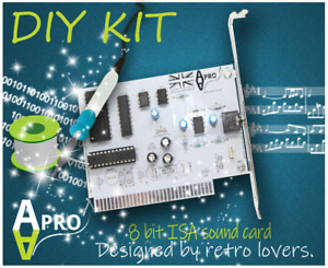 🧰 Do it Yourself Kit Adlib kompatible 8 Bit ISA Soundkarte für Retro Computer-UK Verkäufer