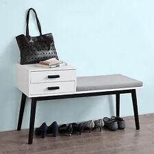 SoBuy® Shoe storage Bench with Drawers, Hallway Seat with Cushion,FSR39-W,UK