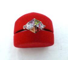 Multicolor Edelstein Ring aus vergoldeten 925 Silber, 6 verschiedene Edelsteine