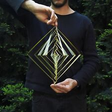 Square Wave Lunar Gold by Ivan Black. Made in Italy Kinetic Sculpture