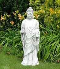 Buddha stehend Steinfigur Skulptur Glaube Gartenfigur Stein BLACKFORM