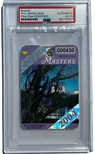 New listing PHIL MICKELSON SIGNED AUTOGRAPHED 2004 MASTERS GOLF BADGE TICKET PSA/DNA