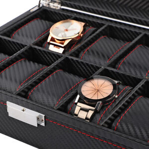 Watch Case Watch Box Portable Jewelry Display Carbon Fiber for Sunglasses