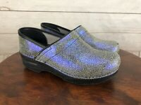 Dansko Shagreen Iridescent Women's Slip On Clogs Shoes Size 37 EU 6.5 US