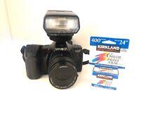 Minolta Maxxum 7000i SLR film camera with Minolta zoom lensworks/ Untested=3200i