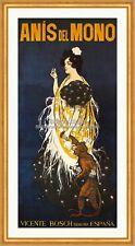 Anis Affe Spirituose Mädchen Spanien Brauch Jugendstil Plakat Plakate A2 322