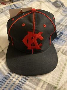 NWT 1998 Vintage Kansas City KC Monarchs Negro League Snap-back Baseball Hat